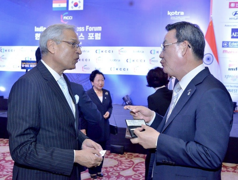Tae-Young Kim, Chairman & CEO, Korea Federation of Banks - India Korea Business Forum